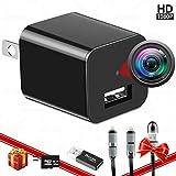 Spy Camera Charger - Hidden Camera - with 32G SD Card - Hidden Nanny Cam - Mini Spy Camera 1080p - Surveillance Camera 1080 HD - Premium Pack - USB Charger Camera - Motion Detection - Loop Recording
