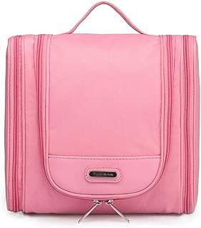 Mhjmijb Cosmetic Bag,Cosmetic Travel Bag,Hanging Toiletry Bag,Travel Makeup Train Case Makeup Cosmetic Case Organizer Portable (Color : Pink)