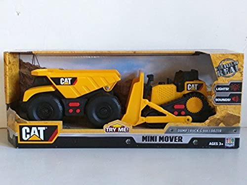 CAT Mini Mover Dump Truck & Bulldozer Construction Toy Vehicles by Toy State
