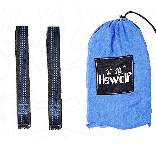 MiOYOOW 1 Pair Hammock Straps, Camping Hammock Tree Rope 9.2Feet Outdoor Adjustable Webbing Tied Rope for Camping Hammock
