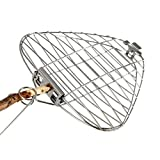 Light My Fire grilling basket - GRANDPA'S FIRE GRILL – Portable folding barbeque grilling basket - Stainless steel - bbq grill basket <span class='highlight'>accessories</span>