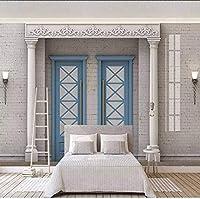 Djskhf カスタム写真壁紙壁紙3D拡張部屋ローマ列アーチリビングルーム寝室背景アート壁画 280X200Cm