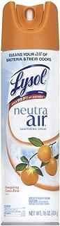 Lysol Neutra Air Sanitizing Spray Air Freshener, Aerosol, Energizing Citrus Zest, 16 Ounce