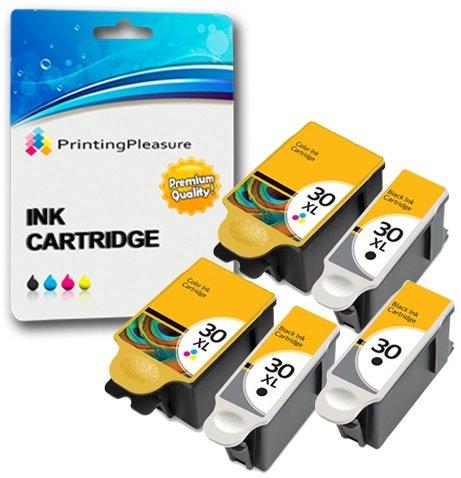 5 XL Druckerpatronen für Kodak ESP C100, C110, C115, C300, C310, C315, C330, C360, 1.2, 3.2, 3.2S, Office 2100, 2150, 2170 AIO, Hero 2.2, 3.1, 4.2, 5.1 | kompatibel zu Kodak 30B, 30CL