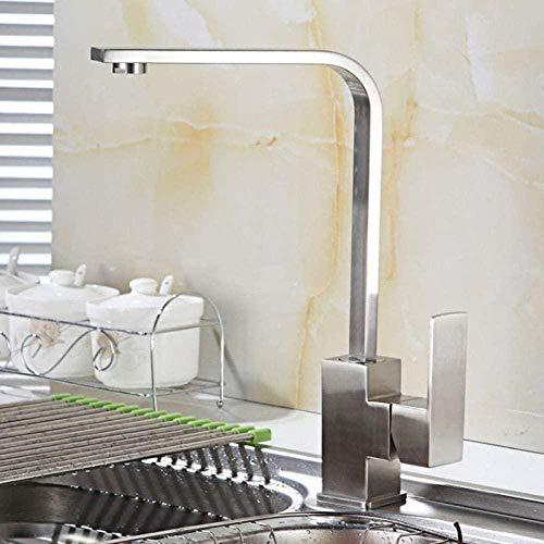 Keukenkraan vierkant van roestvrij staal wastafel warm en koud water gootsteen gootsteen keukenaanrecht wastafel wastafel CKMK2738