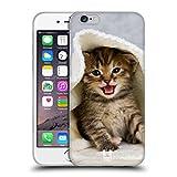 Head Case Designs Chaton dans Serviette Chaude Chats Coque en Gel Doux Compatible avec Apple iPhone 6 / iPhone 6s
