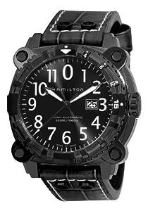 Hamilton Men's H78575393 Khaki Navy BelowZero Black Dial Watch image