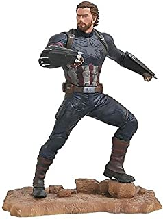 DIAMOND SELECT TOYS Marvel Gallery: Avengers Infinity War Movie Captain America PVC Diorama Figure