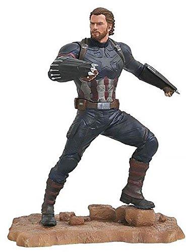 Diamond Capitan America Estatua PVC 23 Cm Marvel Gallery Avengers 3,, tamaño estándar (DIAMV178011)