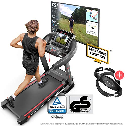 Sportstech Tapis de Course Electrique Pliable F37 Professionnel jusqu'à 20 km/h, système...