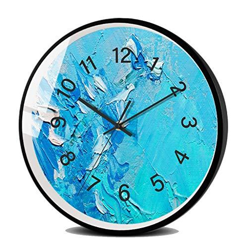 Wohnaccessoires-QFF Künstlerisches Schlichte Wanduhr, Moderne abstrakte Wanduhr Wohnzimmer Big Clock Restaurant dekorative Uhr Dicke: 4,5 cm Familiennutzung (Color : D, Size : 12 inches)