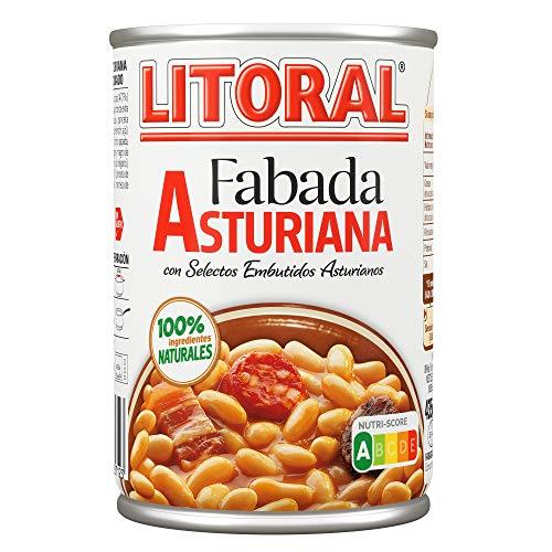 LITORAL Plato Preparado de Fabada, Sin Gluten, 435g