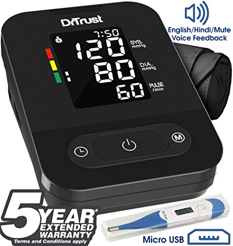 Dr. Trust Smart Talking Automatic Digital Bp Machine (Black)- 101