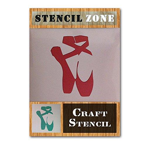 Bellerina Ballett Schuhe Mylar Airbrush Malerei Wand-Kunst-Handwerk-Schablone (A5 Größe Stencil - XSmall)
