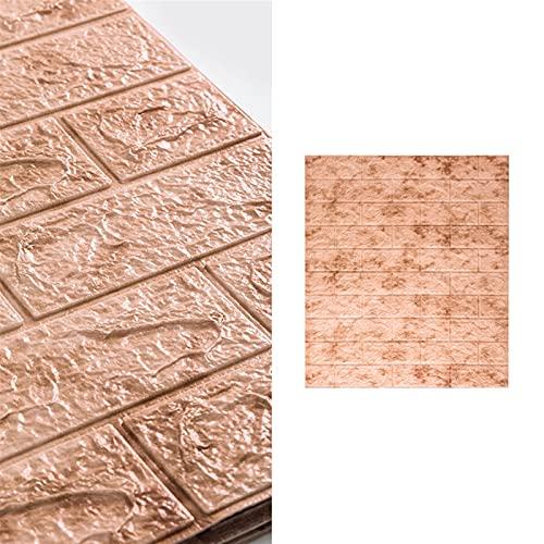 10 piezas de papel tapiz de mármol de imitación 3D 77x70 cm Pegatinas de pared 4 mm de grosor Autoadhesivo Aparto de la pared Etiquetas engomadas de la decoración, pegatinas de azulejo 3D DIY Autoadhe