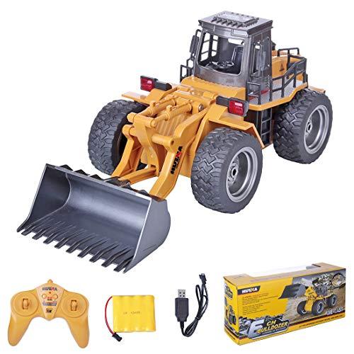 BEVER 1:18 6CH 2.4G RC Loader Vehículo de construcción de camiones de control remoto