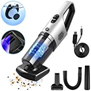 Handheld Vacuums Cordless Car Vacuum Cleaner,PHYSEN 6KPa 120W Powerful Cyclonic Suction Hand Hoover,Motorized Rotating Brush with UV Sterilization,Dry and Wet Lightweight Vacuums,Run up to 40 Mins,Vac