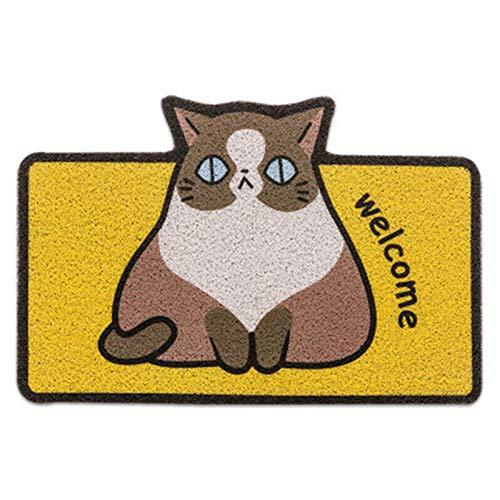 WDM Alfombrillas De Puertas - Cat De Dibujos Animados Arena Raspado De Arena Y Puerta De Eliminación De Polvo Estera De Bienvenida, Baño De Pasillos Antideslizantes De Baño Antideslizante,3,40cmx60cm