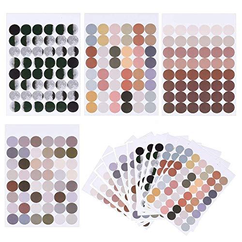 960片入り カラーラベル 丸型ステッカー 丸型 ラベルシール カラー装飾ドットステッカー 日記ノートメモ帳の装飾