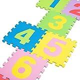 Leo & Emma - Alfombrilla para rompecabezas 9 alfombras números 0 - 9 Alfombrilla de juego Alfombrilla de bebé impermeable