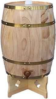 HWhome 5L/10L/15L/20L/30L Tonneau à Vin Vertical Multifonctionnel,Fût De Chêne Vintage Distributeur d'eau en Bois Petit Vi...
