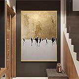 KWzEQ Nórdico Abstracto Simple Personaje Pintura al óleo Mural Imagen Sala de Estar decoración del hogar Pintura Mural,Pintura sin Marco,75x112cm