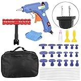 Kit de Herramientas de eliminación de removedor de abolladuras sin Pintura 32Pcs/Set Extractor de Pistola de Pegamento Kit de Herramientas de reparación de abolladuras sin Pintura 100-240V(EU)