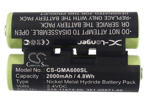 CS-GMA600SL Batería 2000mAh Compatible con [Garmin] 010-01550-00, Astro 320 Handheld, Astro 430 Handheld, Oregon 600, Oregon 600t, Oregon 650, Oregon 650t, Striker 4, Striker 4 Fishfinder sustituye 0