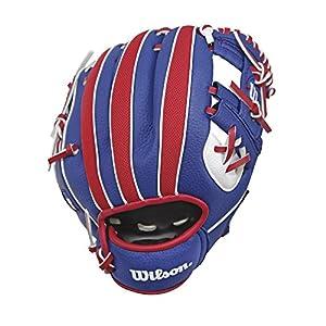 "Wilson A200 MLB Logo T-Ball Baseball Glove, Right Hand, 10"""