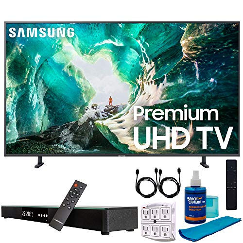 "Samsung UN65RU8000 65"" RU8000 LED Smart 4K UHD TV (2019) w/Soundbar Bundle Includes, Deco Gear Home Theater Surround Sound 31"" Soundbar, Screen Cleaner, 2X HDMI Cable and 6-Outlet Surge Adapter"
