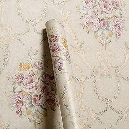 Wollzo Golden Floral Bed Room Self Adhesive Wallpaper 45 X 500 Cm Amazon In Home Improvement