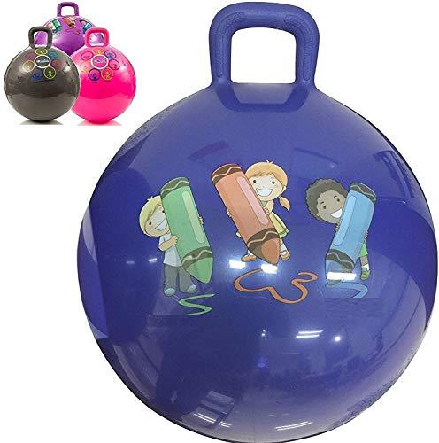 Storio Inflatable Hopper Ball for Kids ( Hip-Pity Hop Ball, Hopping Ball, Bouncy Ball with Handles, Sit & Bounce, Kangaroo Bouncer, Jumping Ball )