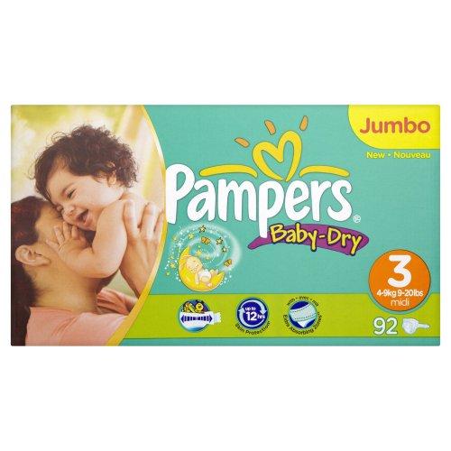 Pampers Baby Dry Gr. 2(Mini) Jumbo Pack 92Windeln