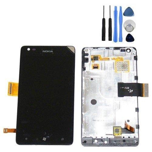 BisLinks - Set di ricambio e assemblaggio per display LCD Digitizer e Touch Lens per Nokia Lumia N900