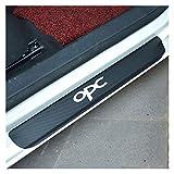 XIAOZHIWEN 4 PCS Fibra de Carbono Puerta de Coche Decoración del umbral Pegatinas de película Anti rasatores Ninguno Resbalón para Opel Mokka X Corsa Insignia Astra Adam OPC (Color Name : Silver)