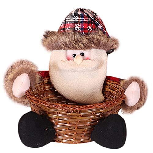carol -1 Weihnachtskorb, Weihnachtssüßigkeiten Aufbewahrungsbox Weihnachtsdekoration Ornament Elch Geschenkkorb, Weihnachtsfeier Geschenk Halter Container, Weihnachtsmann Dekoration