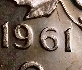 1961 CANADA 1 CENT PENNY ***HANGING 1*** BRILLIANT UNCIRCULATED CONDITION