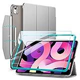ESR Set con Funda Tríptica para iPad Air 4 (2020) [Incluye Protector de Pantalla de Cristal Templado] [Modo Automático de Reposo/Actividad] [Compatible Carga inalámbrica Pencil 2] Serie Ascend - Gris