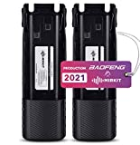 2PCs 3800 mAh Mirkit Replacement Batteries BL-8 Li ion 7.4V for Baofeng UV-82HP, UV-82HPL, UV-82, UV-82C, UV-82X, Two-Way Ham Radios, Rechargeable Extended Batteries by Mirkit Radio, USA Warranty