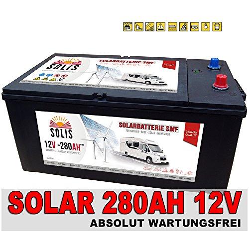 Solarbatterie 280Ah (100h) 230AH (20h) SHD Wohnmobil Solar Versorgungs Boots Batterie