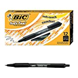 BIC Soft Feel Ball Pen, Black, Fine Point, 12-Count