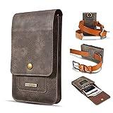 Clip ceinture de téléphone en cuir véritable pour iPhone SE 2020 X XS XR 11 6 7 8, pour Samsung...