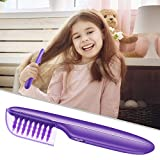 Electric Detangling Brush Hair Detangler-Comb - Wet Or Dry Use Purple Hair Brush For Adults and Kids(Batteries Not Included)