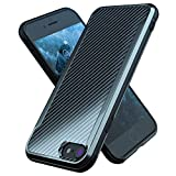 Nicexx Designed for iPhone 7 Case/Designed for iPhone 8 Case/Designed for iPhone SE 2020 Case with Carbon Fiber Pattern, 12ft. Drop Tested, Wireless Charging Compatible - Black