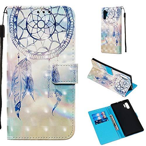 nincyee Wallet Case voor Samsung Galaxy Note 10 Pro,3D Leuke Bloemen Dieren Patroon Premium Lederen Flip Case Cover voor Samsung Galaxy Note 10 Pro, for Samsung Galaxy Note10 Pro, Fantasie wind klokken