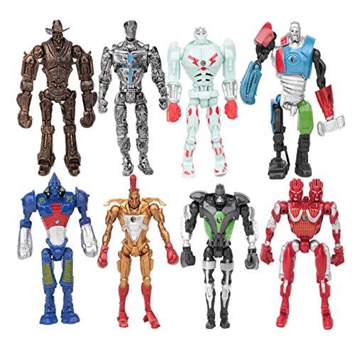 8pcs/Set Real Steel Action Figure Toys Atom Movie Zeus Twin Cities Midas Robot PVC 13cm Anime Non-JAKKS Robot