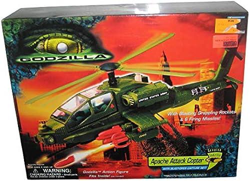 Godzilla Film Apache Attack Copter mit blast-open Capture Net