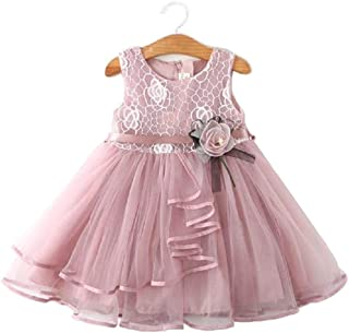 Girl Baby Toddler Birthday Party Dress 1T-5T Elegant Casual Sleeveless Baptism