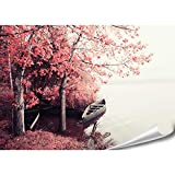 PMP-4life XXL Poster Boot bei rotem Wald | 140x100cm |