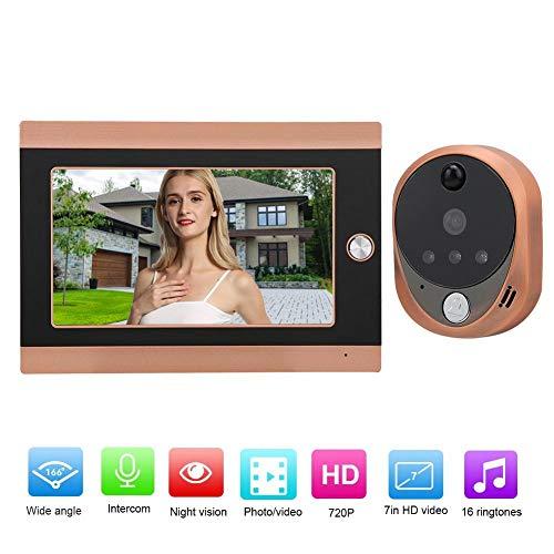 Hakeeta 7 inch LCD-scherm HD WiFi Wireless Video deurbel met 16 muziekbeltonen, Europese voorschriften (100-240 V)